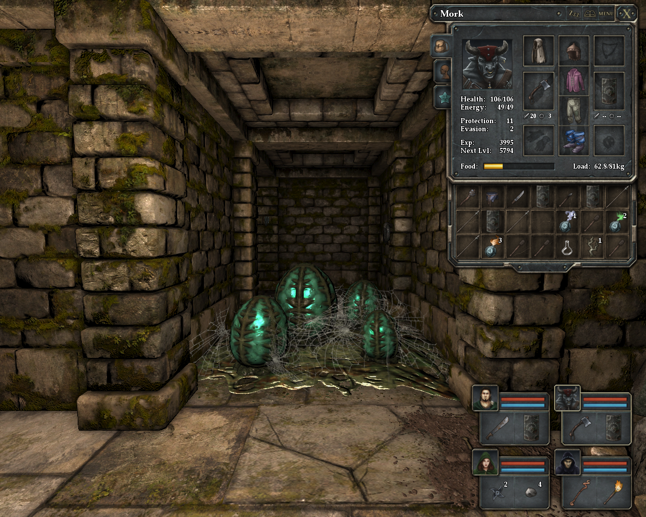 Legend of Grimrock Windows Spider eggs... Guess spiders are near...