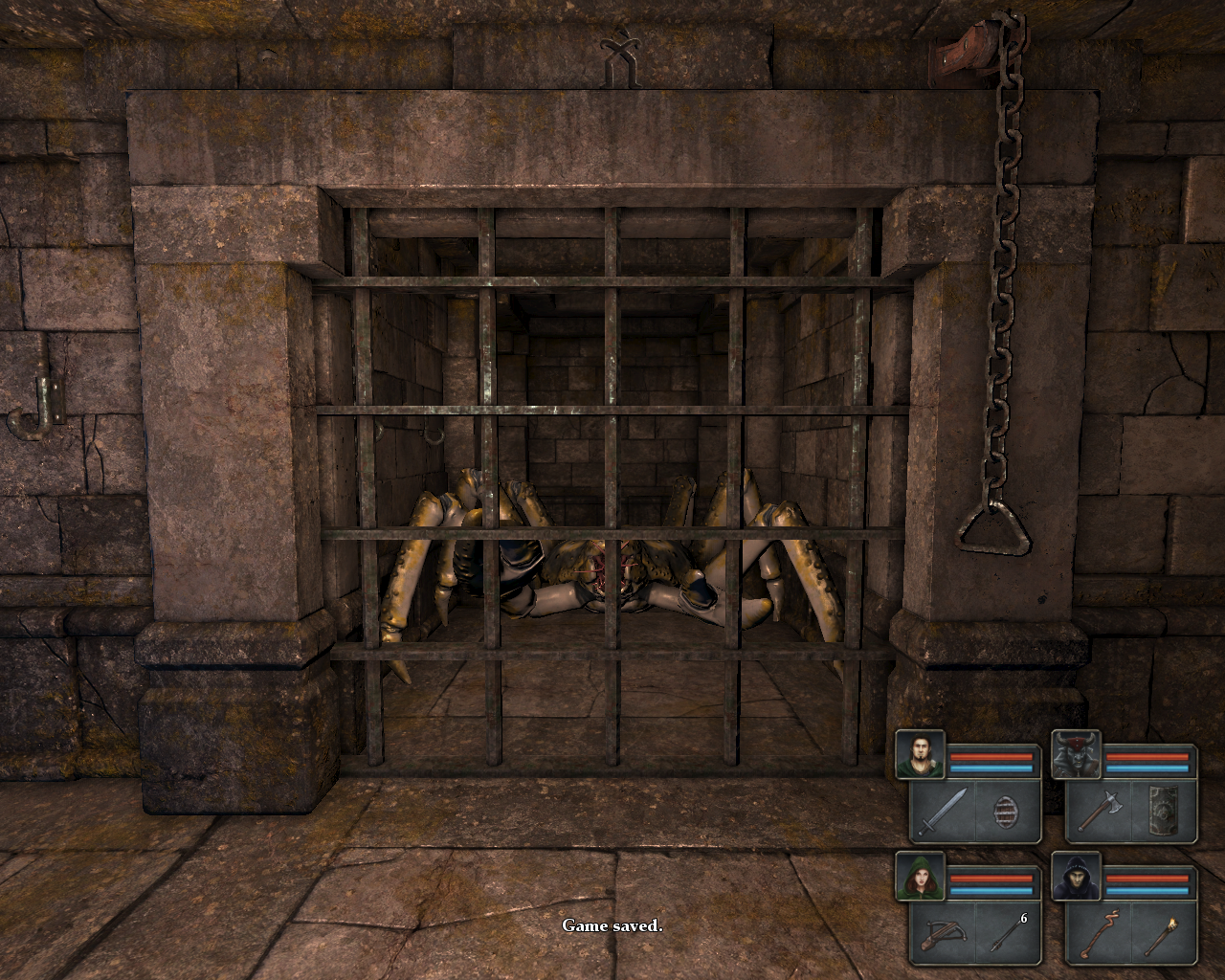 Legend of Grimrock Windows A giant crab. Now stay trapped there!