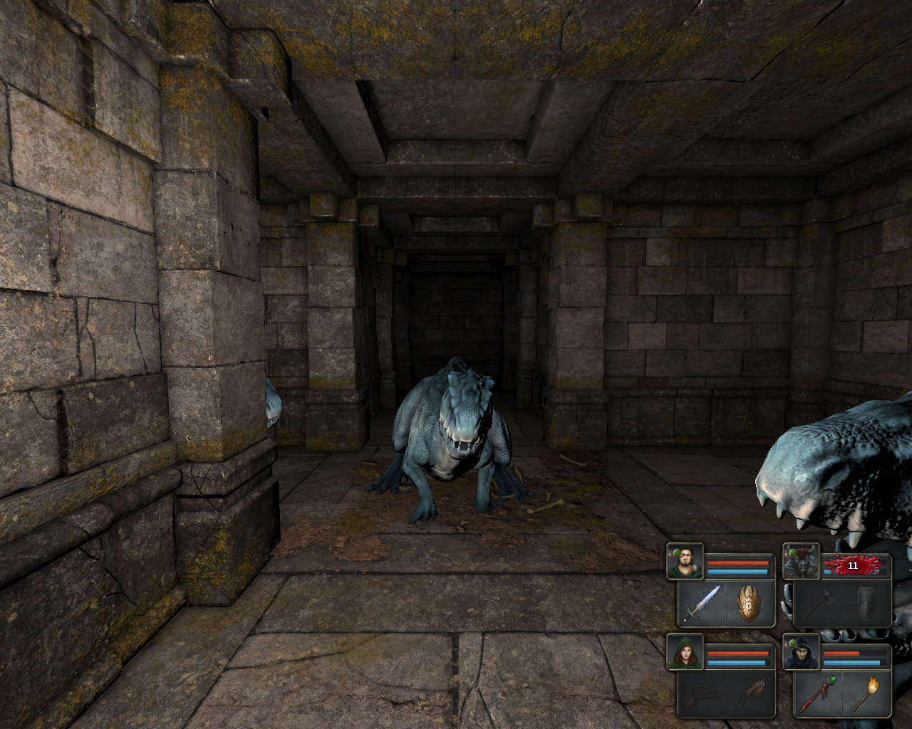 Legend of Grimrock Windows surrounded by Ice Lizards