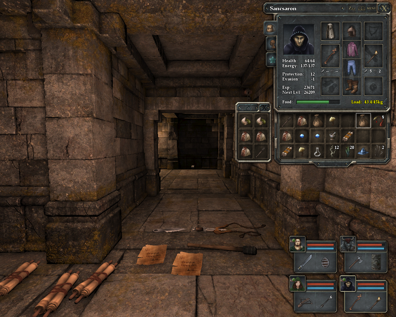 Legend of Grimrock Windows Item management