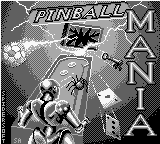Pinball Mania Game Boy Title screen