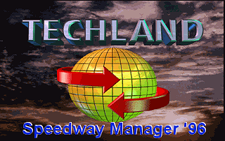 Speedway Manager '96 DOS Title screen