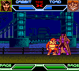 X-Men: Mutant Academy Game Boy Color Gambit vs Toad