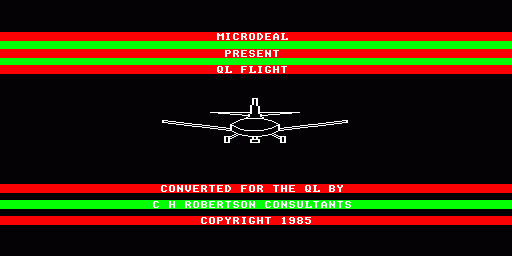Worlds of Flight Sinclair QL Intro - aircraft does one roll.