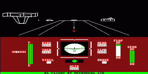 Worlds of Flight Sinclair QL Takeoff, full throttle, brakes off, rolling.