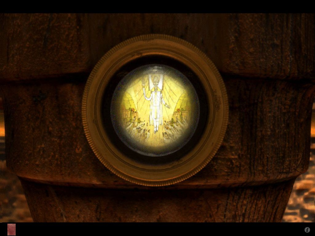 Riven: The Sequel to Myst iPad Gate Room golden beetle peephole
