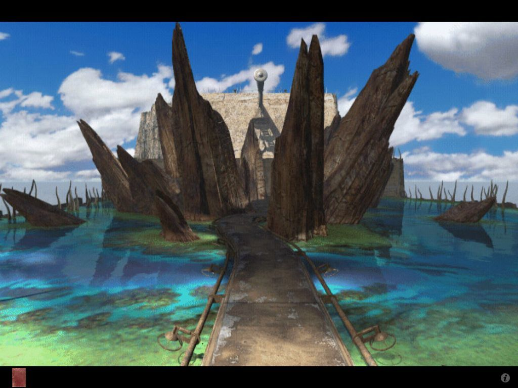 Riven: The Sequel to Myst iPad Arrival on plateau island