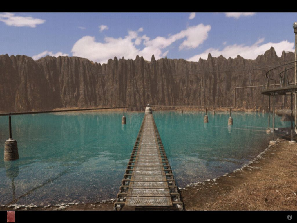 Riven: The Sequel to Myst iPad Lake at crater island