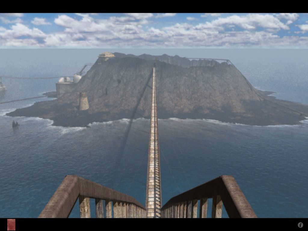 Riven: The Sequel to Myst iPad Full view of crater island