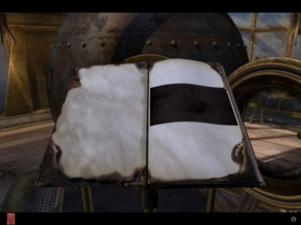 Riven: The Sequel to Myst iPad Burned linking book