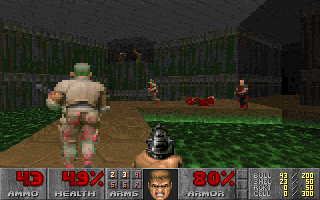 DOOM DOS F5 key lowers video resolution; it was a useful trick to run the game on slower PCs