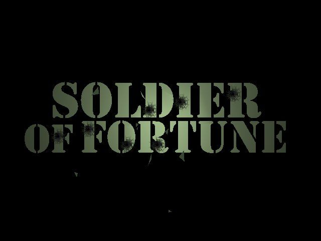 Soldier of Fortune Windows game title screen