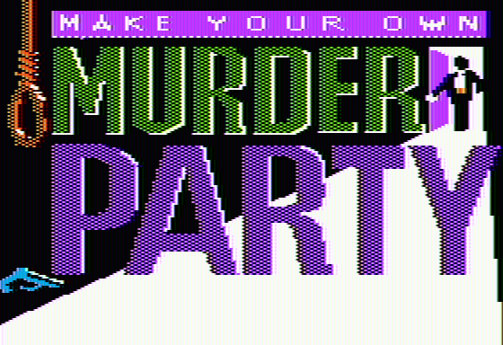 Make Your Own Murder Party Apple II Title screen