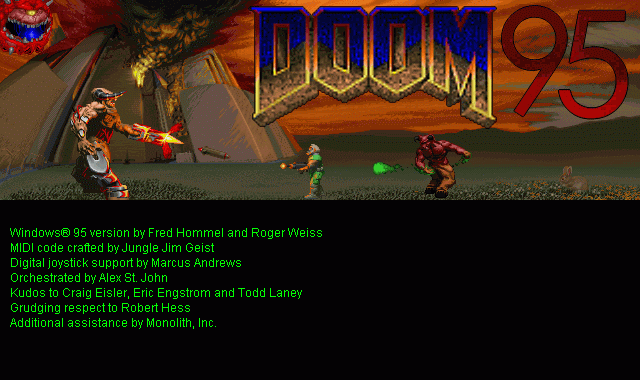 DOOM Windows Doom95 splash screen