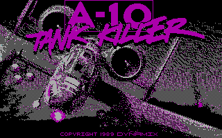 A-10 Tank Killer DOS Title screen (CGA)