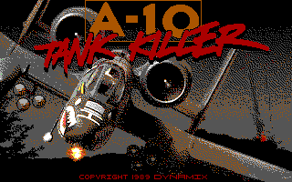 A-10 Tank Killer DOS Title screen (EGA/Tandy)