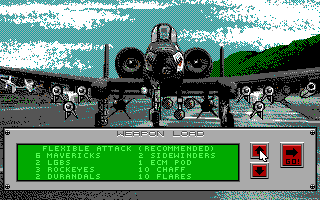 A-10 Tank Killer DOS Weapon Load - Flexible Attack (EGA/Tandy)