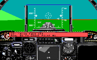 A-10 Tank Killer DOS Nice Take-Off (EGA/Tandy)