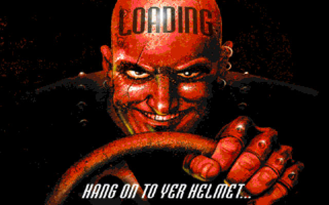 Carmageddon DOS Loading screen