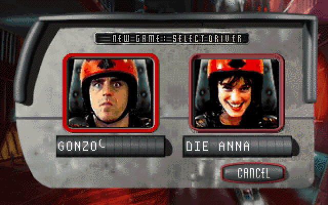 Carmageddon DOS Choose your driver