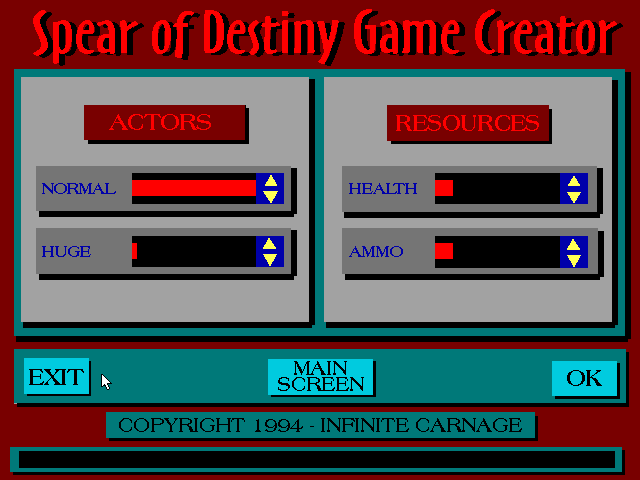 Spear of Destiny Super CD Pack DOS Mind you, Game Creator is just a level <i>generator</i>, not editor.
