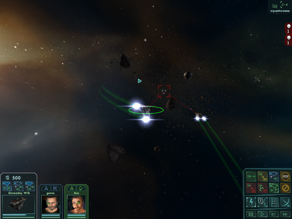 Star Wolves Windows Single enemy ship is easy target