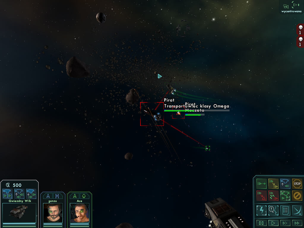 Star Wolves Windows A little space battle, two enemy ships to eliminate.