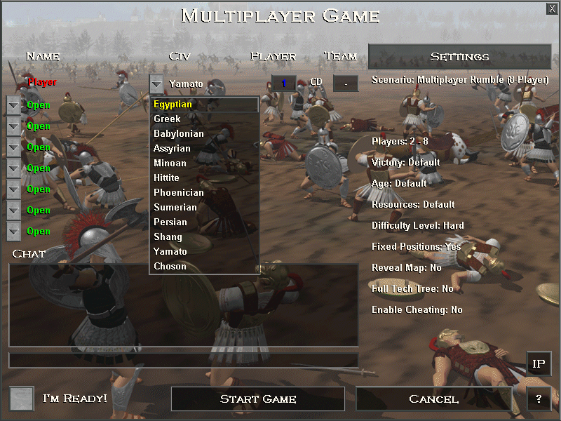 Age of Empires (Demo Version) Windows All twelve civilizations are available in multiplayer games...