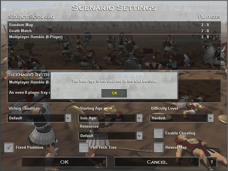 Age of Empires (Demo Version) Windows ...however, the technology tree is limited to the Bronze Age.