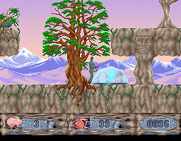 Spy Master DOS Tree and the forcefield