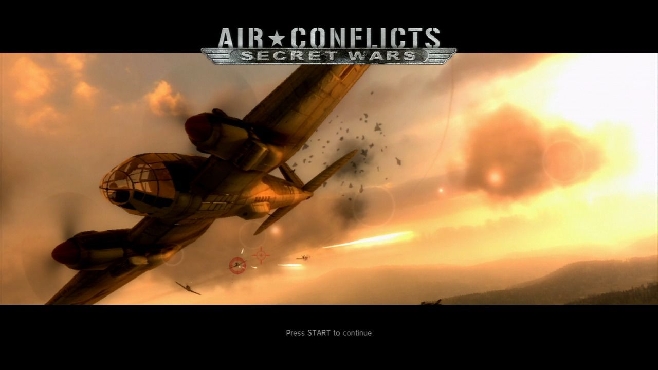 Air Conflicts: Secret Wars PlayStation 3 Splash screen.