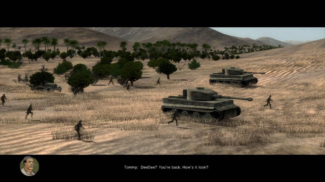 Air Conflicts: Secret Wars PlayStation 3 German troops are advancing toward Tobruk.