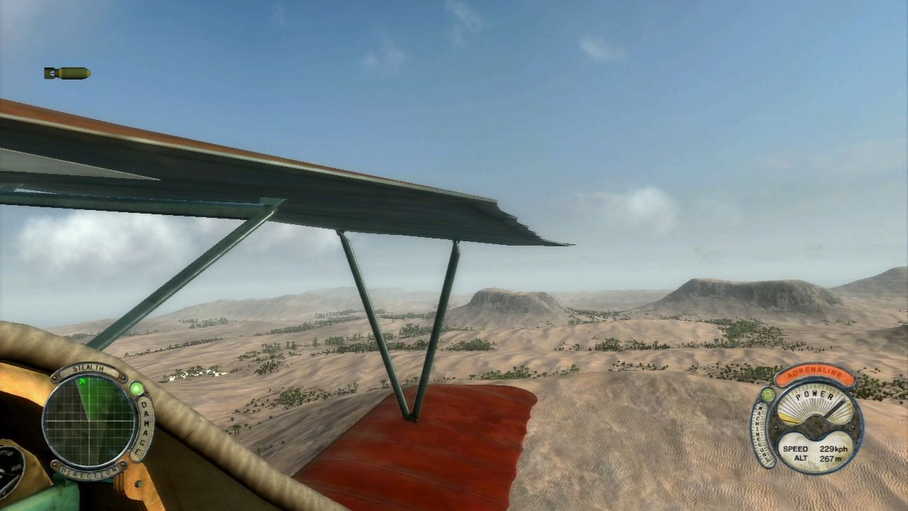 Air Conflicts: Secret Wars PlayStation 3 When you are using cockpit camera, you can look around.