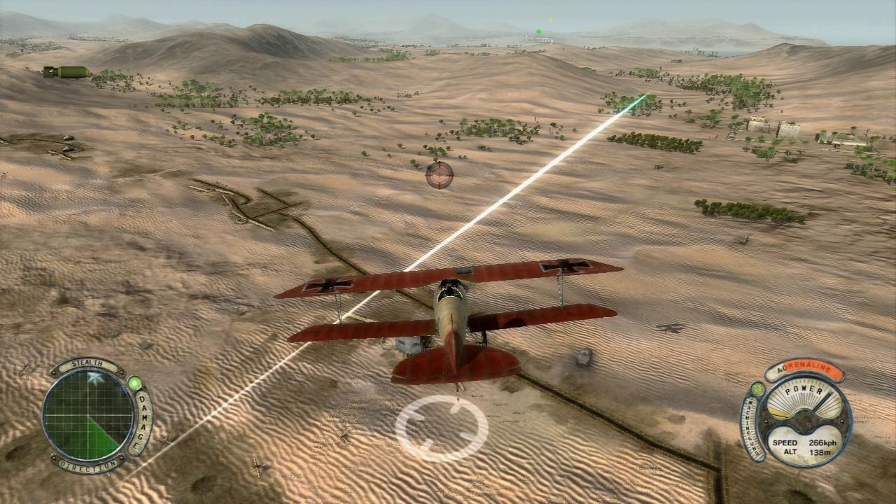 Air Conflicts: Secret Wars PlayStation 3 Enemy AA emplacements will fire if you get into their range.