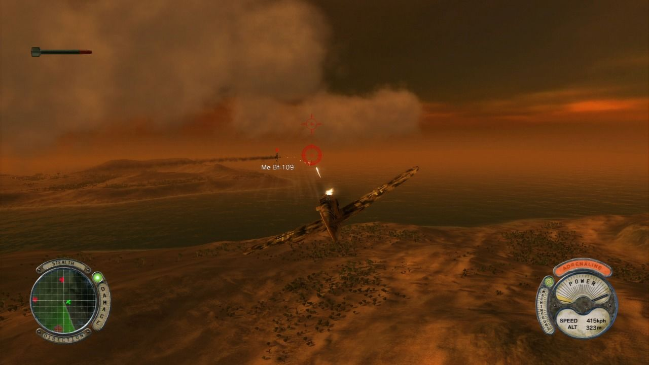 Air Conflicts: Secret Wars PlayStation 3 You need to anticipate enemy plane movement and fire a bit in front to hit the target.