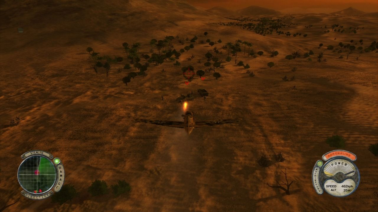 Air Conflicts: Secret Wars PlayStation 3 Firing missile at the enemy patrol, before explosion.