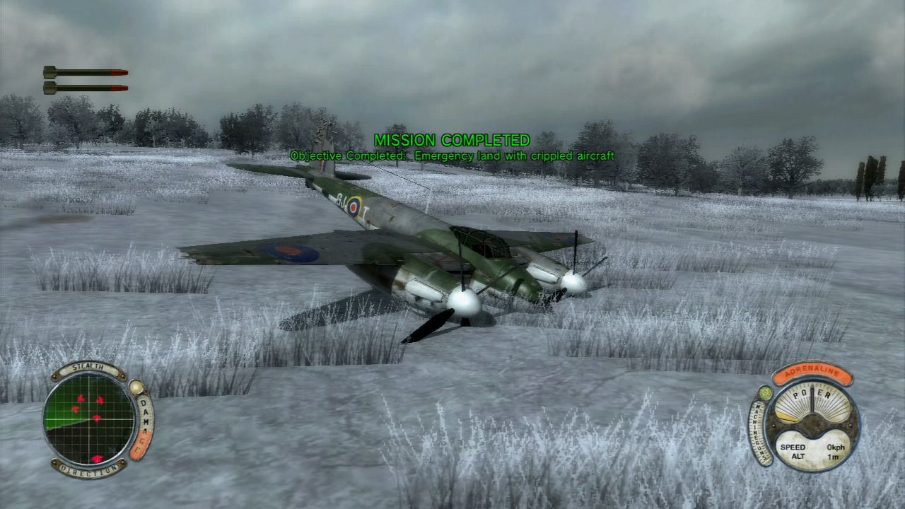 Air Conflicts: Secret Wars PlayStation 3 Emergency landing went fine.