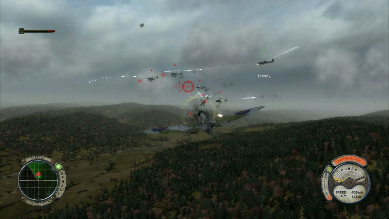 Air Conflicts: Secret Wars PlayStation 3 Enemy bombers coming in.