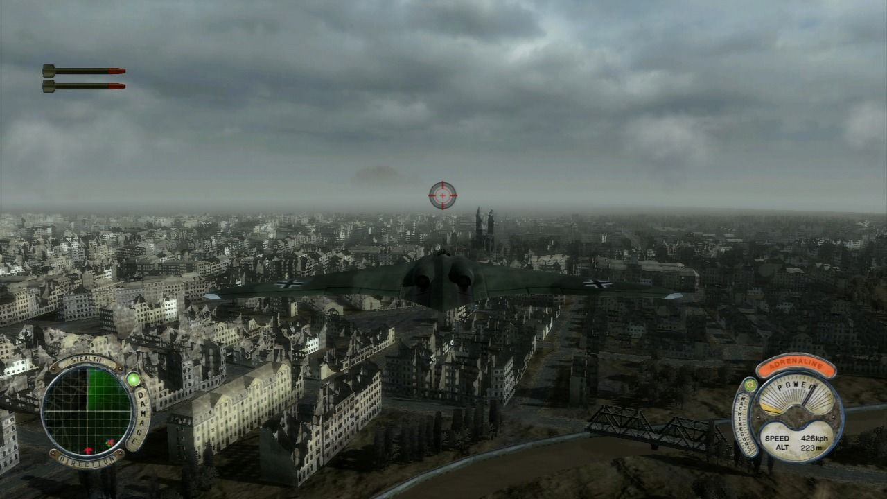 Air Conflicts: Secret Wars PlayStation 3 Flying over Berlin.