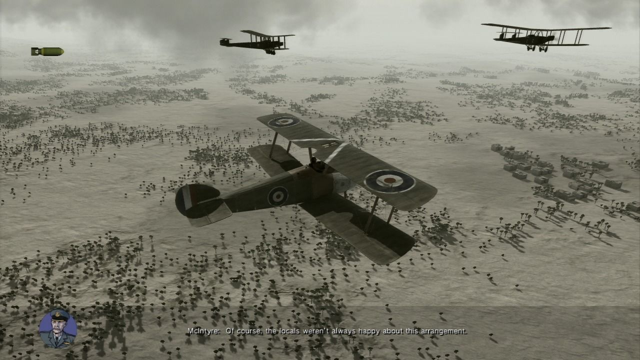 Air Conflicts: Secret Wars PlayStation 3 Escorting heavy bombers.