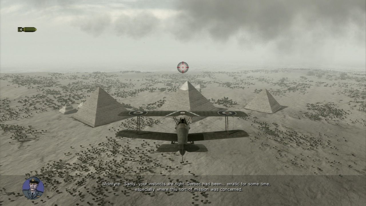 Air Conflicts: Secret Wars PlayStation 3 Flying over pyramids.