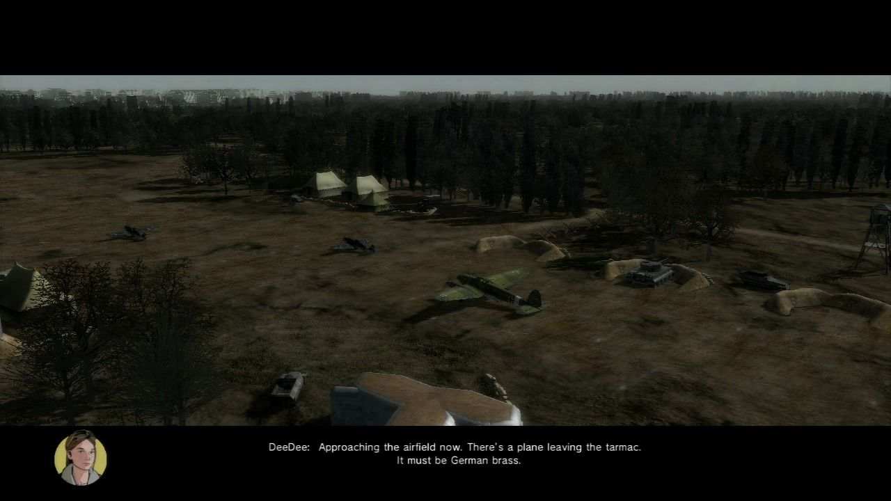 Air Conflicts: Secret Wars PlayStation 3 Enemy general, prepping to skedaddle.