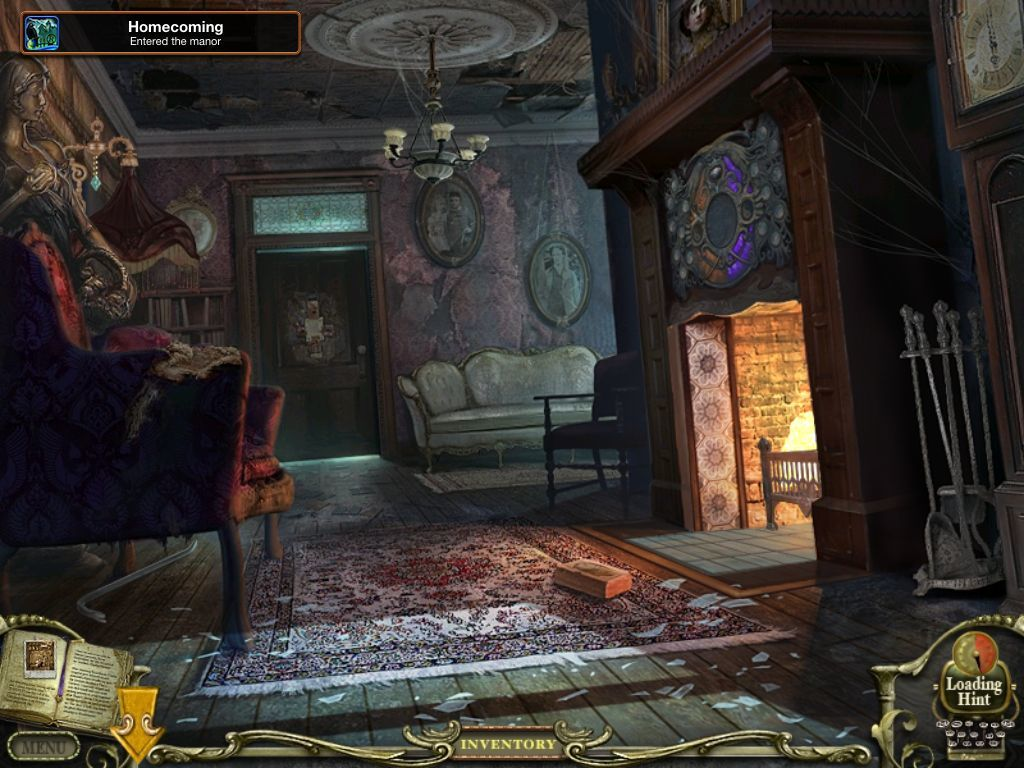 Mystery Case Files: Return to Ravenhearst iPad Finally inside the house which is an - achievement