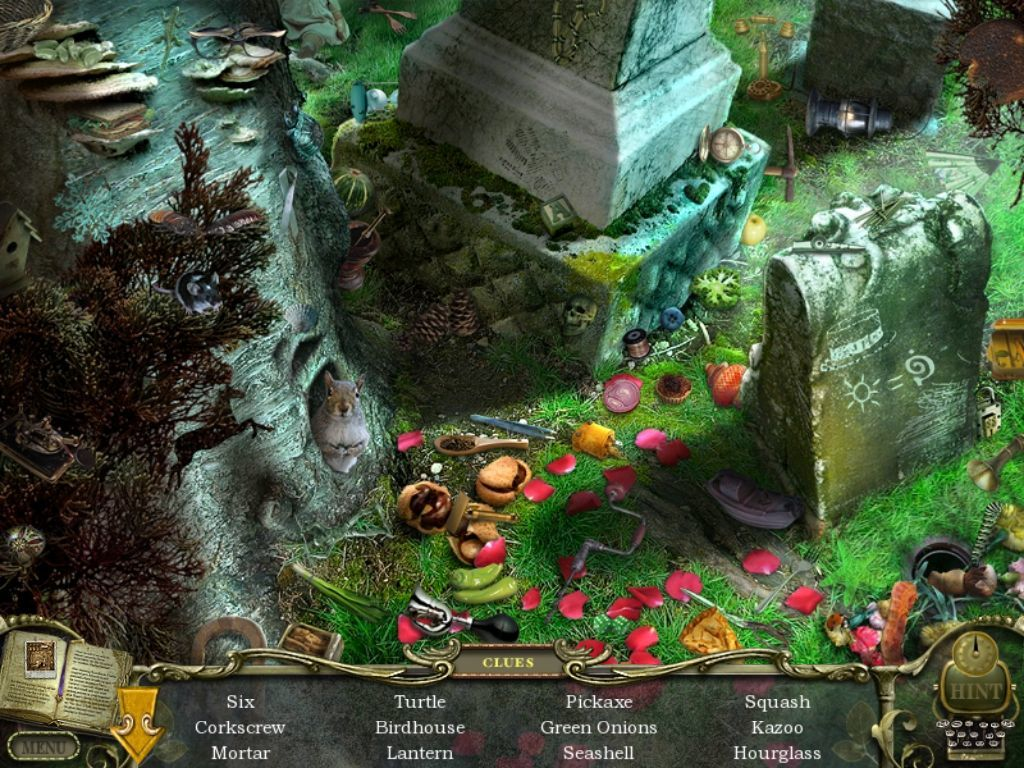 Mystery Case Files: Return to Ravenhearst iPad Graveyard - objects