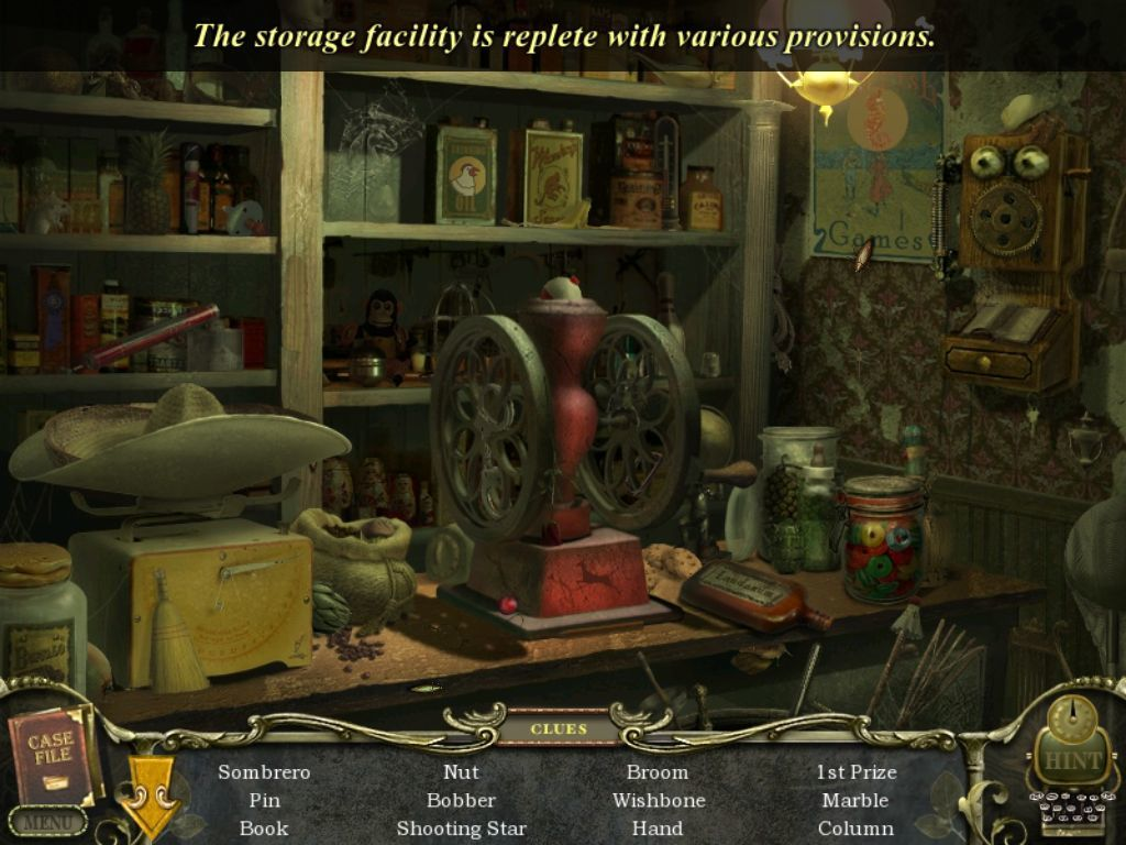 Mystery Case Files: Return to Ravenhearst iPad General Store - objects