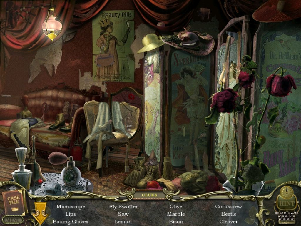 Mystery Case Files: Return to Ravenhearst iPad Beauty Parlor - objects