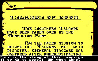 The Ancient Art of War DOS Story of Islands of Doom (EGA/Tandy)