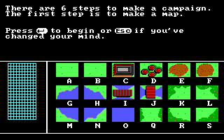 The Ancient Art of War DOS Make Campaign / Needs blank disk on Drive A or B (EGA/Tandy)