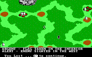 The Ancient Art of War DOS You Lost - Sherwood Forest (EGA/Tandy)