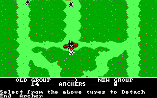 The Ancient Art of War DOS Adjusting Archers's type - Sherwood Forest (EGA/Tandy)